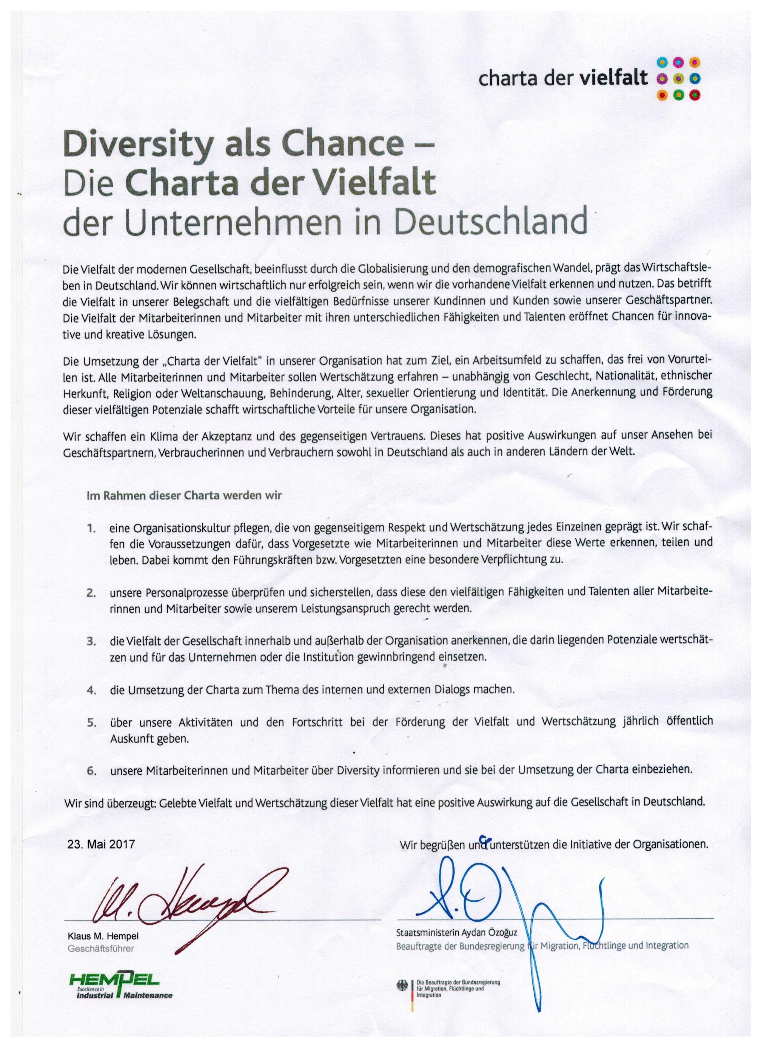 Carta der Vielfalt